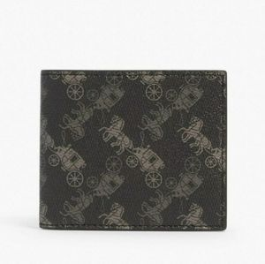 New COACH ID BILLFOLD WALLET WITH HORSE